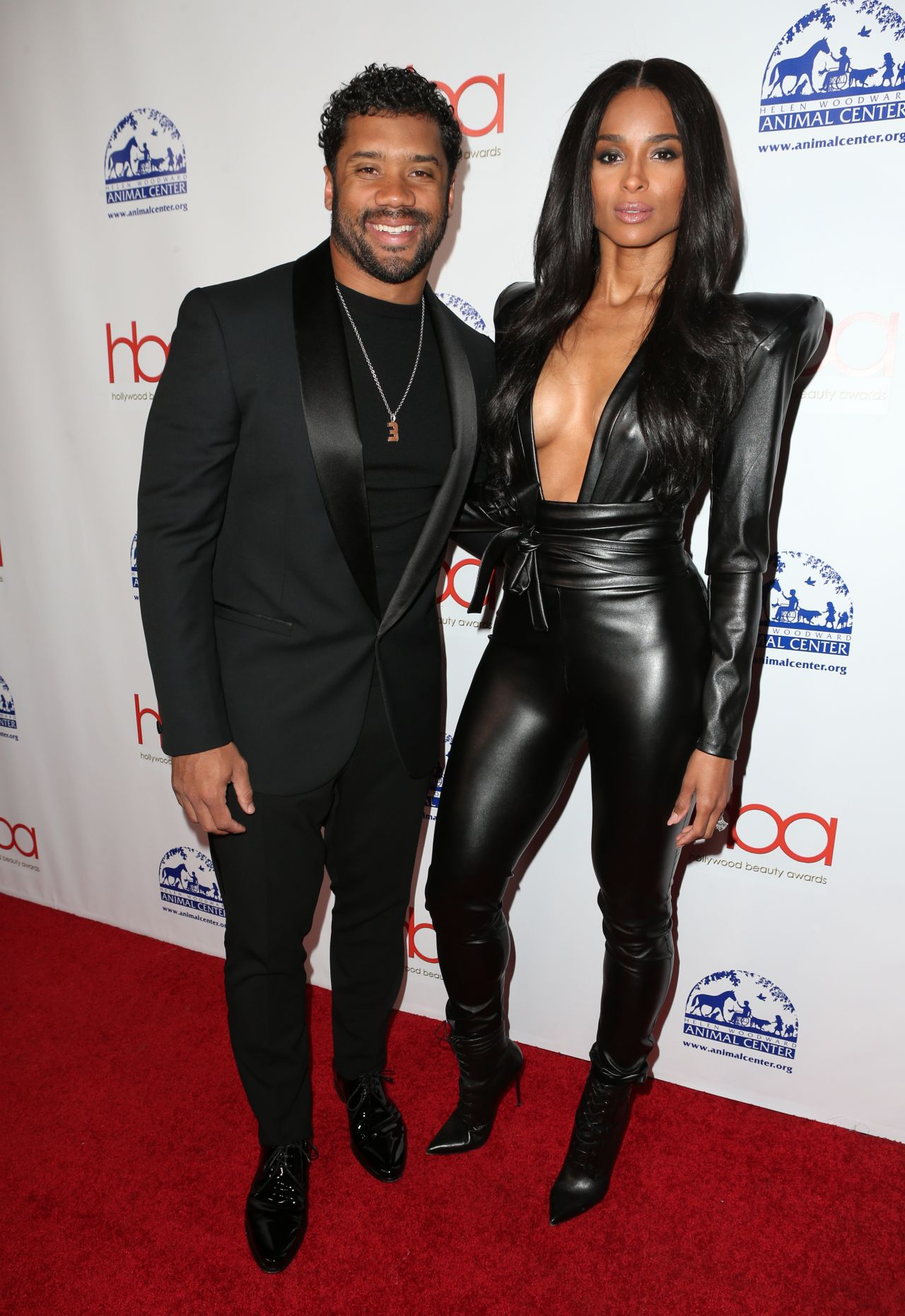 Ciara and Russell Wilson on ESPYS Red Carpet
