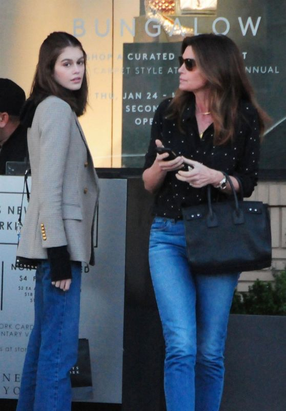 Cindy Crawford and Kaia Gerber Street Style 02/05/2019