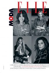 Cindy Crawford, Carla Bruni, Elle Macpherson and Maria Carla Boscono - ELLE Italia February 2019