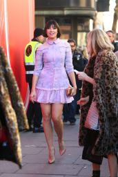 Daisy Lowe - Arriving For The London Fashion Week 02/15/2019