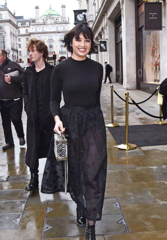 Daisy Lowe - Aspinal of London Presentation at London Fashion Week 02/18/2019