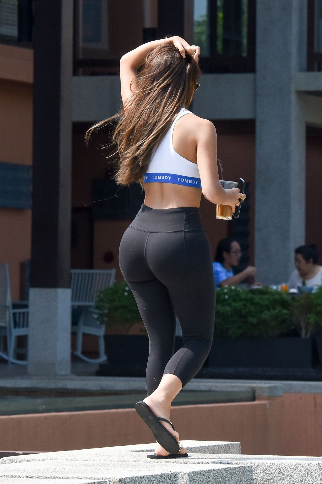 Demi Rose In A Tiny Quot Tomboy Quot Crop Top And Leggings 02 08 2019