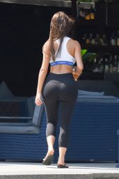 "Demi Rose in a Tiny ""Tomboy"" Crop Top and Leggings 02/08/2019"