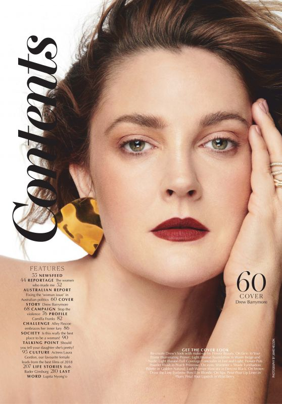Drew Barrymore - Marie Claire Magazine Australia April 2019 Issue