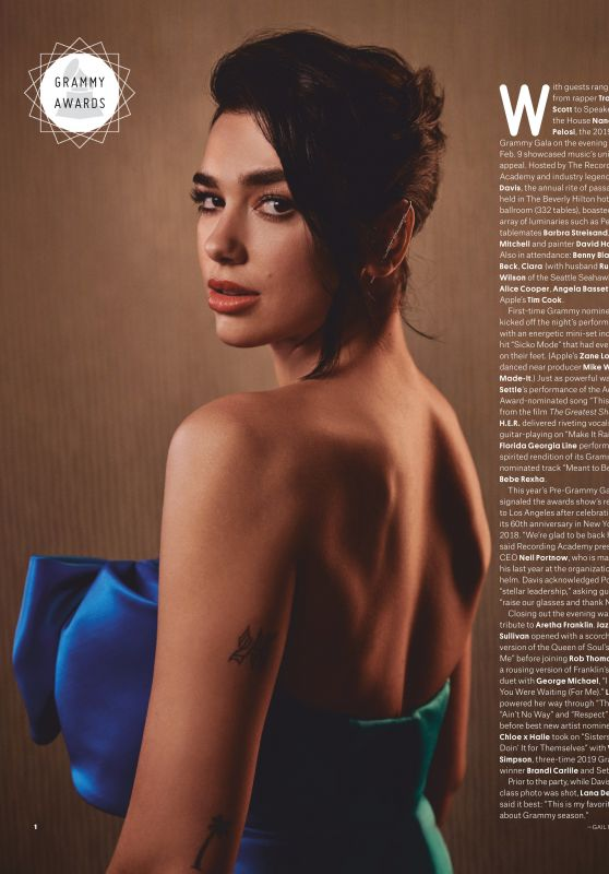 Dua Lipa - Billboard Magazine February 2019