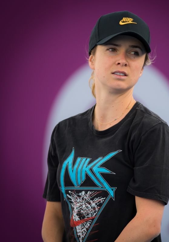 Elina Svitolina - Practices at the 2019 Qatar Total Open in Doha 02/12/2019