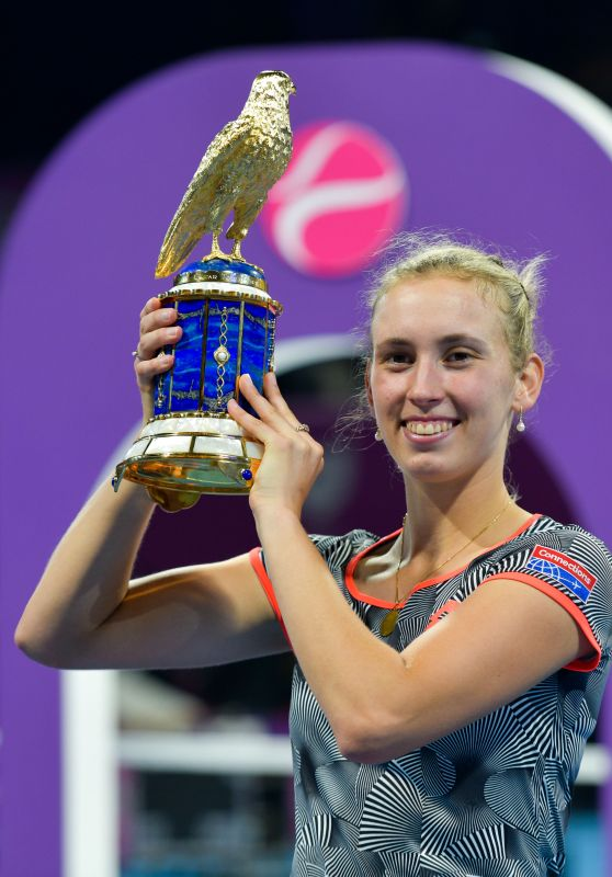 Elise Mertens - Final at the 2019 WTA Qatar Open in Doha 02/16/2019