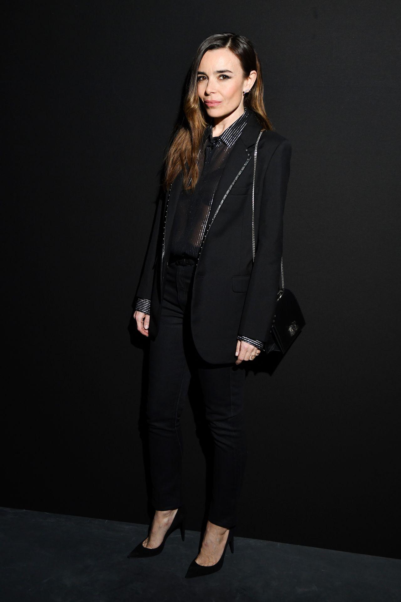 elodie bouchez saint laurent fashion show in paris 02 26 2019. Black Bedroom Furniture Sets. Home Design Ideas