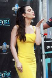 Emeraude Toubia on Extra at Universal Studios in Hollywood 02/27/2019