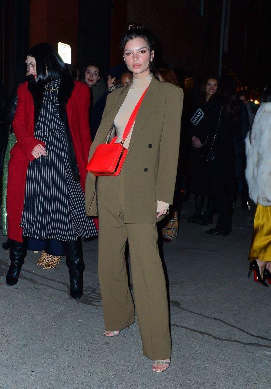 Emily Ratajkowski - Arriving to Tiffany & Co Party in NYC 02/09/2019