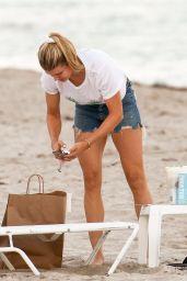 Eugenie Bouchard in Bikini on the Beach in Miami 02/03/2019