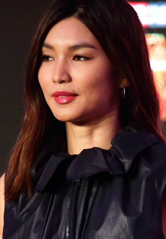 """Gemma Chan - """"Captain Marvel"""" Press Conference in Singapore 02/14/2019"""