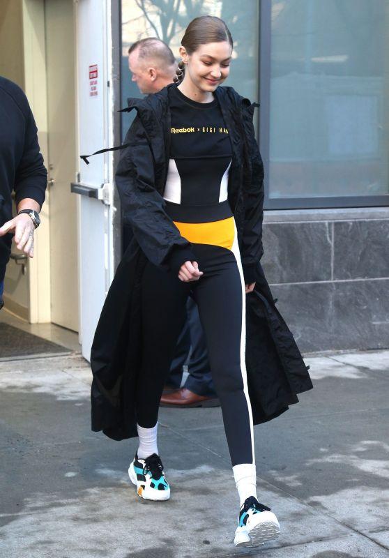 Gig Hadid - Exiting a Reebok x Gigi Hadid Event in NYC 02/04/2019