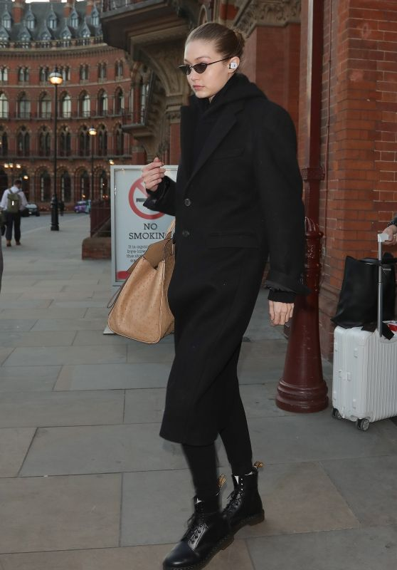 Gigi Hadid - Aarriving in London 02/15/2019