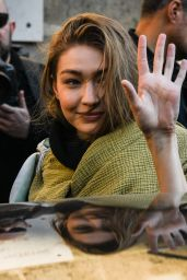 Gigi Hadid - Coming Out of the 2019 Lanvin Show in Paris 02/27/2019