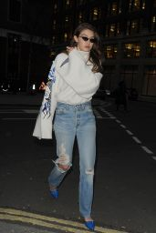 Gigi Hadid - Out in London 02/16/2019