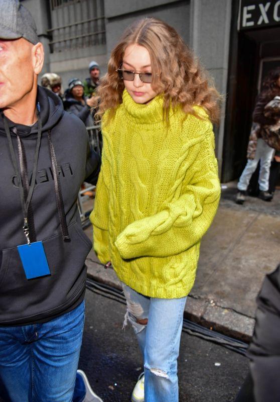 Gigi Hadid - Outside Michael Kors Fashion Show in NYC 02/13/2019