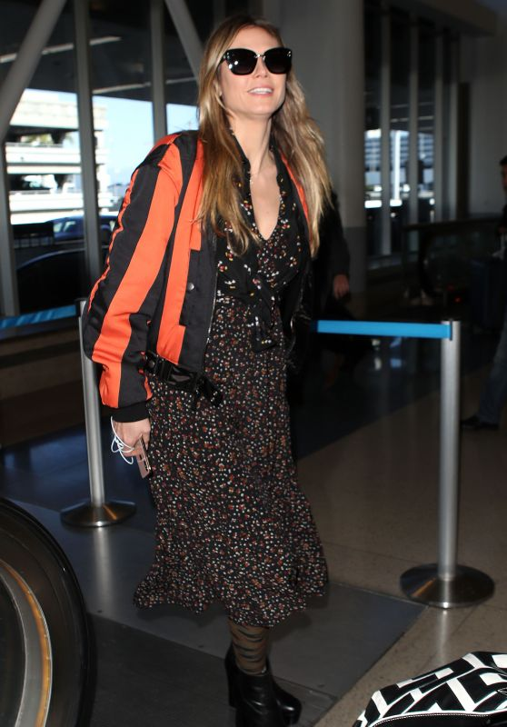 Heidi Klum in Travel Outfit - LAX Airport 02/07/2019