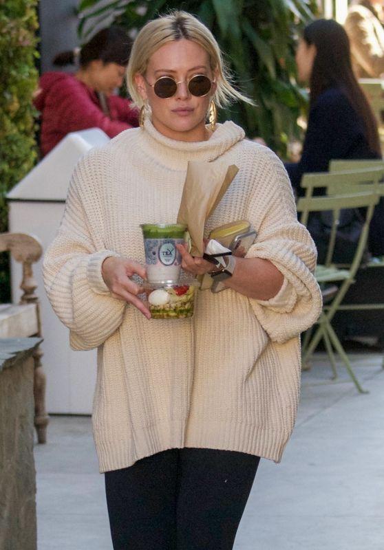 Hilary Duff - Alfred Coffee & Kichen in West Hollywood 02/11/2019