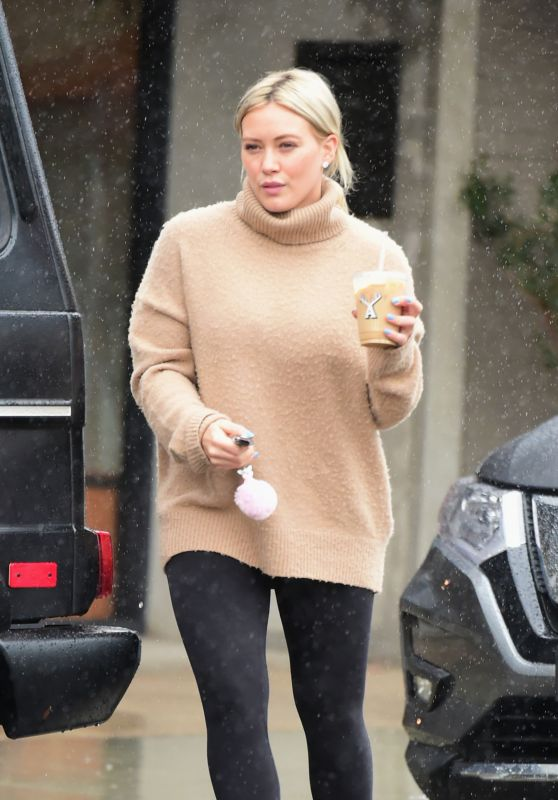 Hilary Duff - Out for Coffee in LA 02/02/2019