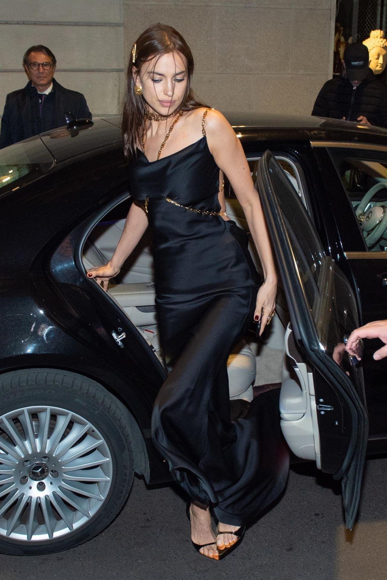 Irina Shayk Night Out Style Milan 02 22 2019