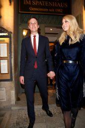 Ivanka Trump - Leaves After Wienerschnitzel the Bavarian Restaurant Spatenhaus in Munich 02/15/2019