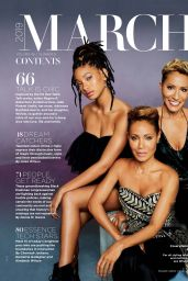 Jada Pinkett Smith, Willow Smith and Adrienne Banfield-Norris - Essence Magazine March 2019 Issue