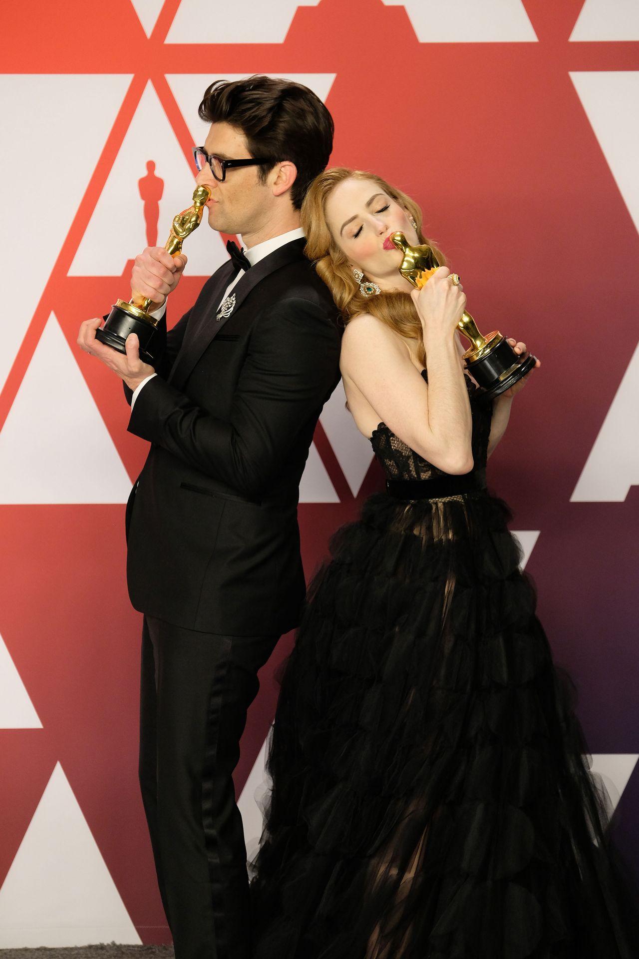 Jaime Ray Newman And Guy Nattiv Oscar 2019 Winners