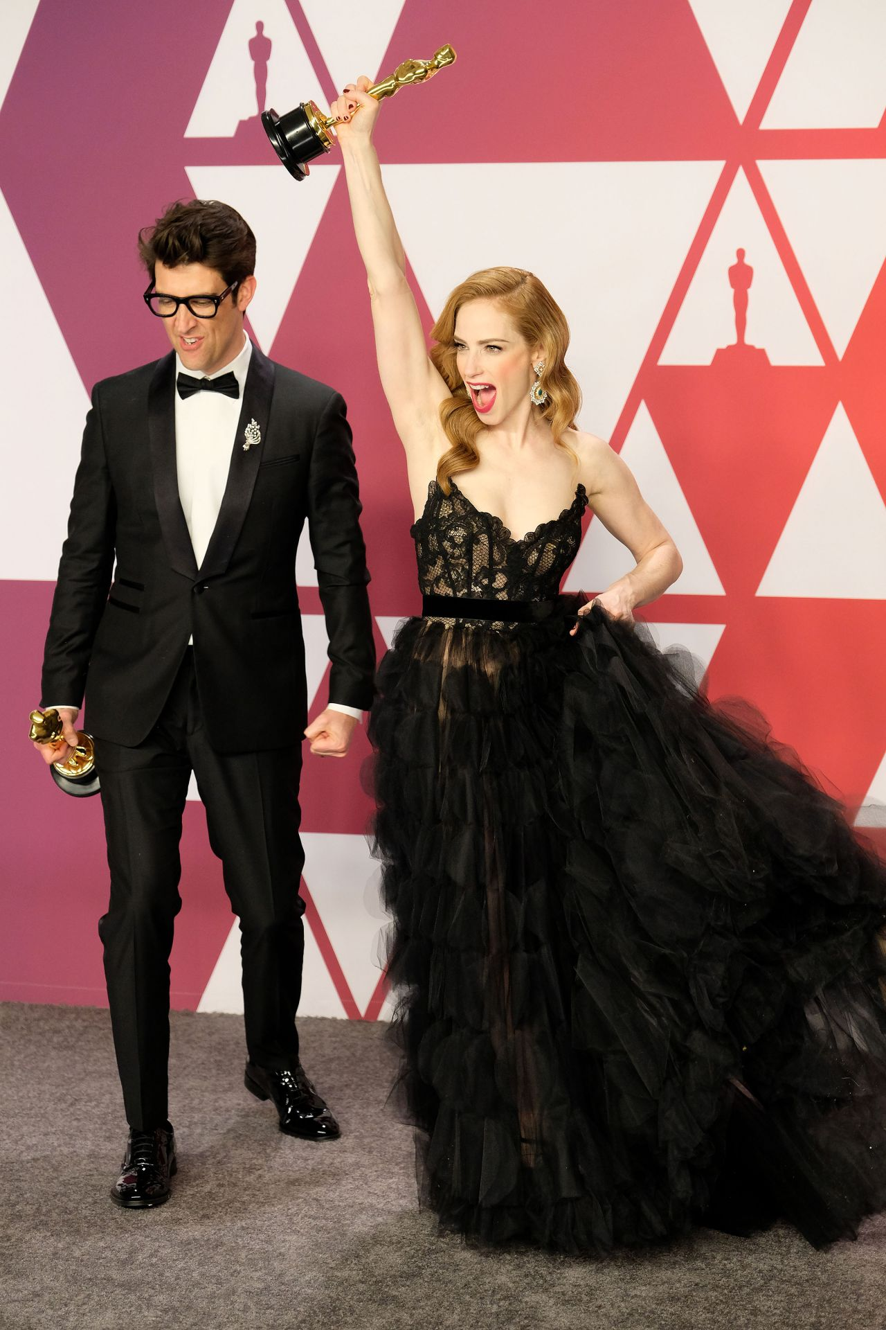 Jaime Ray Newman And Guy Nattiv Oscar 2019 Winners