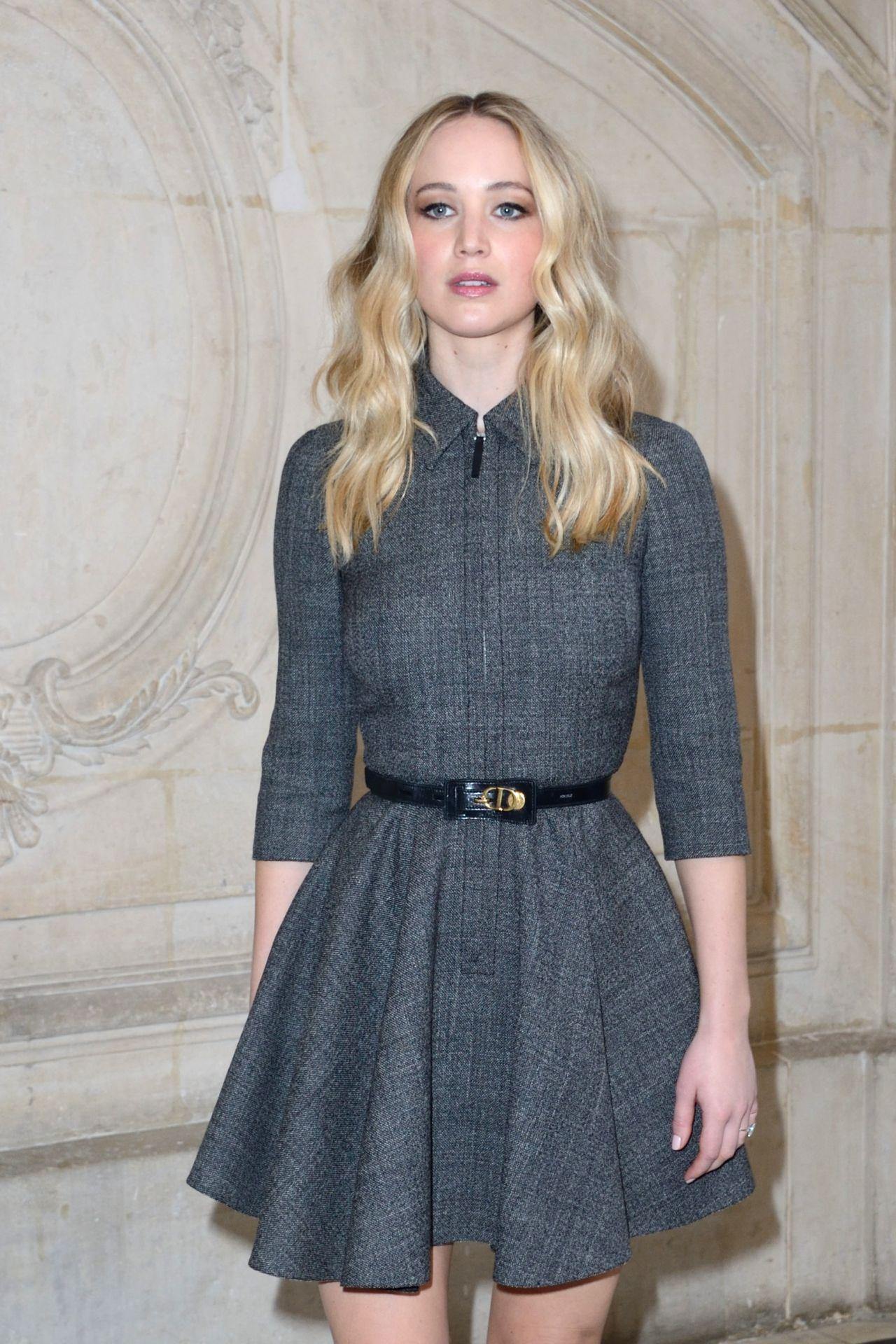 Jennifer Lawrence – Christian Dior Fashion Show in Paris ...