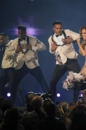 Jennifer Lopez Perform During the 61st Grammy Awards