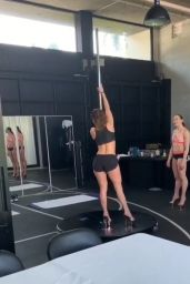 Jennifer Lopez - Pole Dance Practice Video 02/19/2019