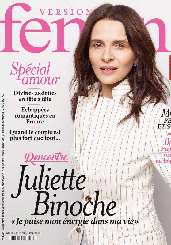 Juliette Binoche - Femina Magazine Februry 2019 Issue