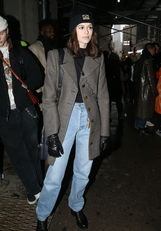 Kaia Gerber – Outside the Coach Fashion Show in New York City 02/12/2019