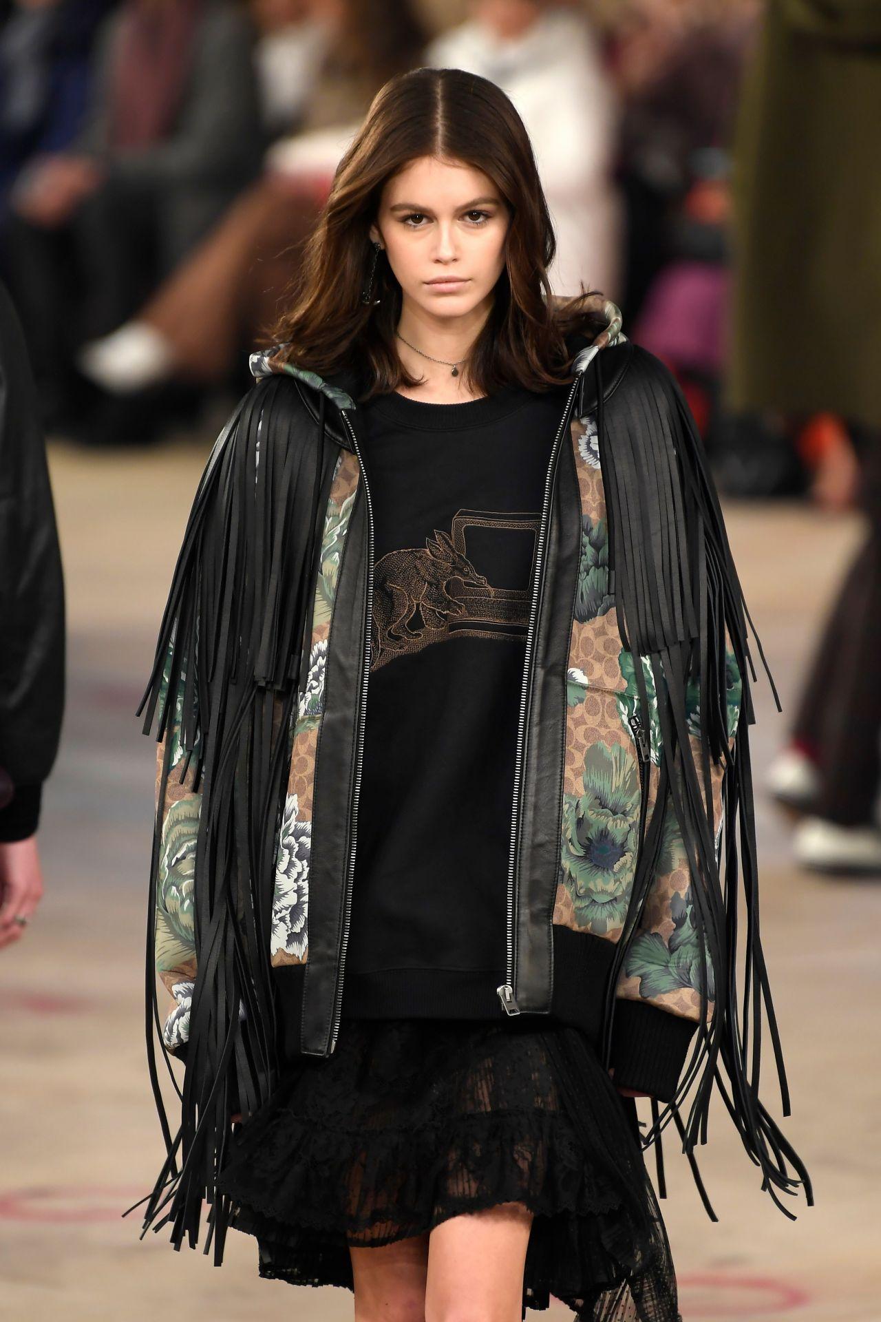 Kaia Gerber Walks Coach Fashion Show in New York 02/12/2019
