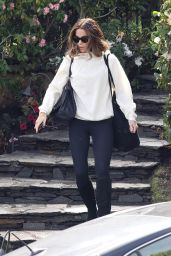 Kate Beckinsale Casual Style - Leaving Her Home in Brentwood 02/05/2019