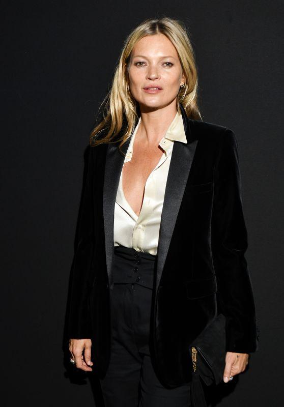 Kate Moss – Saint Laurent Fashion Show in Paris 02/26/2019