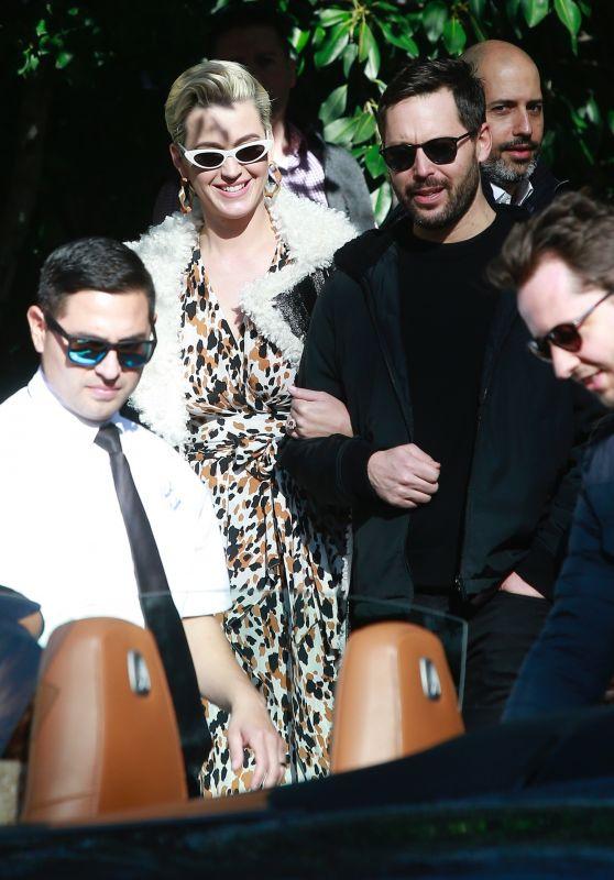 Katy Perry - Arrives at Giorgio Armani Pre Oscar 2019 Party