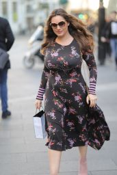 Kelly Brook - Arriving at Heart Radio in London 02/15/2019