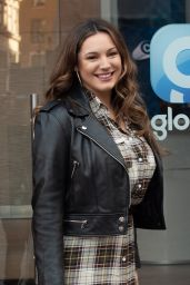Kelly Brook - Arriving at the Global Radio Studios in London 02/14/2019