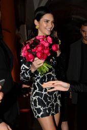 Kendall Jenner Night Out Style - Milan 02/22/2019