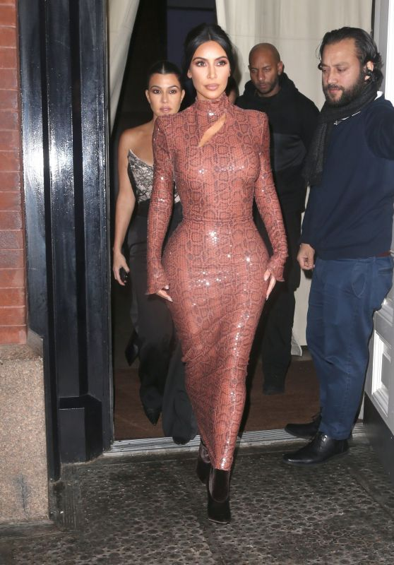 Kim Kardashian and Kourtney Kardashian Night Out Style - Cipriani in NYC 02/07/2019