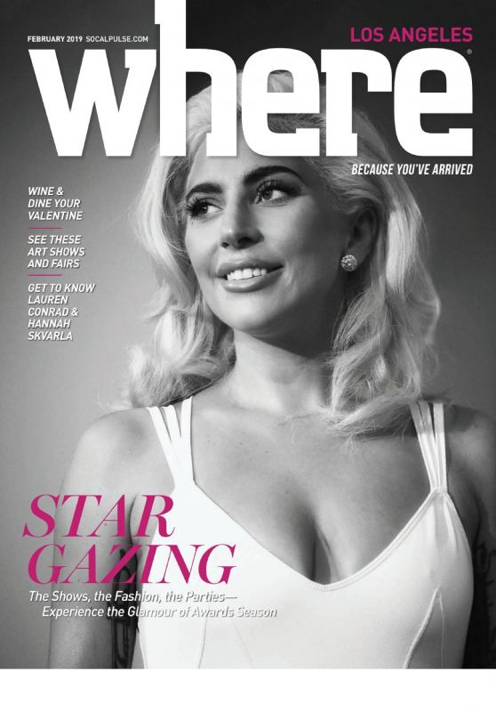 Lady Gaga - Where Los Angeles February 2019 Cover
