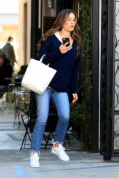 Lea Michele - Leaving the Nine Zero One Salon in West Hollywood 02/19/2019
