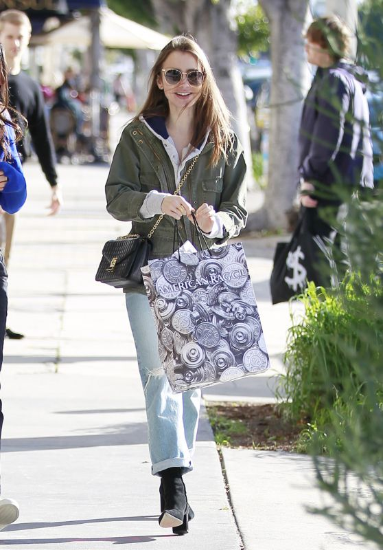 Lily Collins - Shopping in West Hollywood 02/20/2019