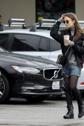 Lily Collins Street Style - Out for Coffee at Starbucks in LA 02/15/2019