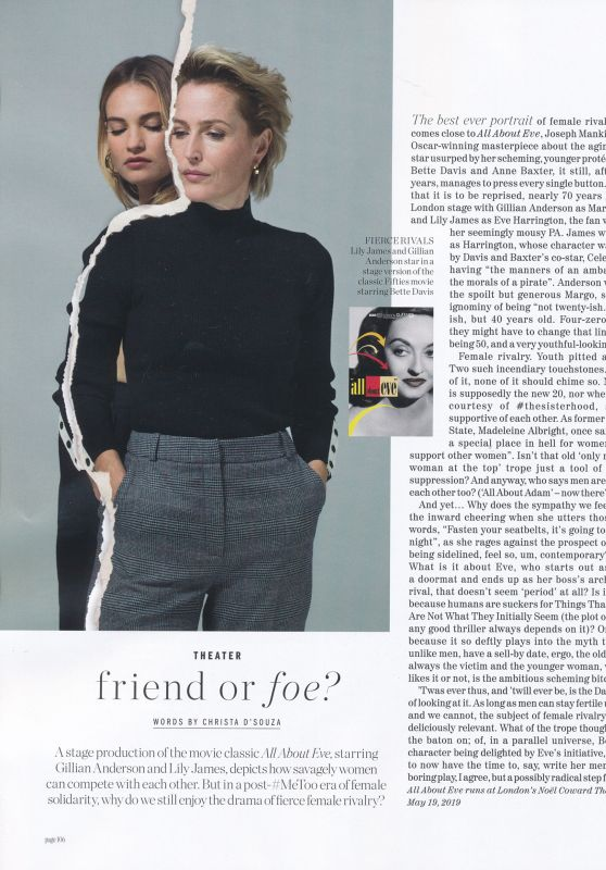 Lily James and Gillian Anderson - Porter Spring 2019 Issue