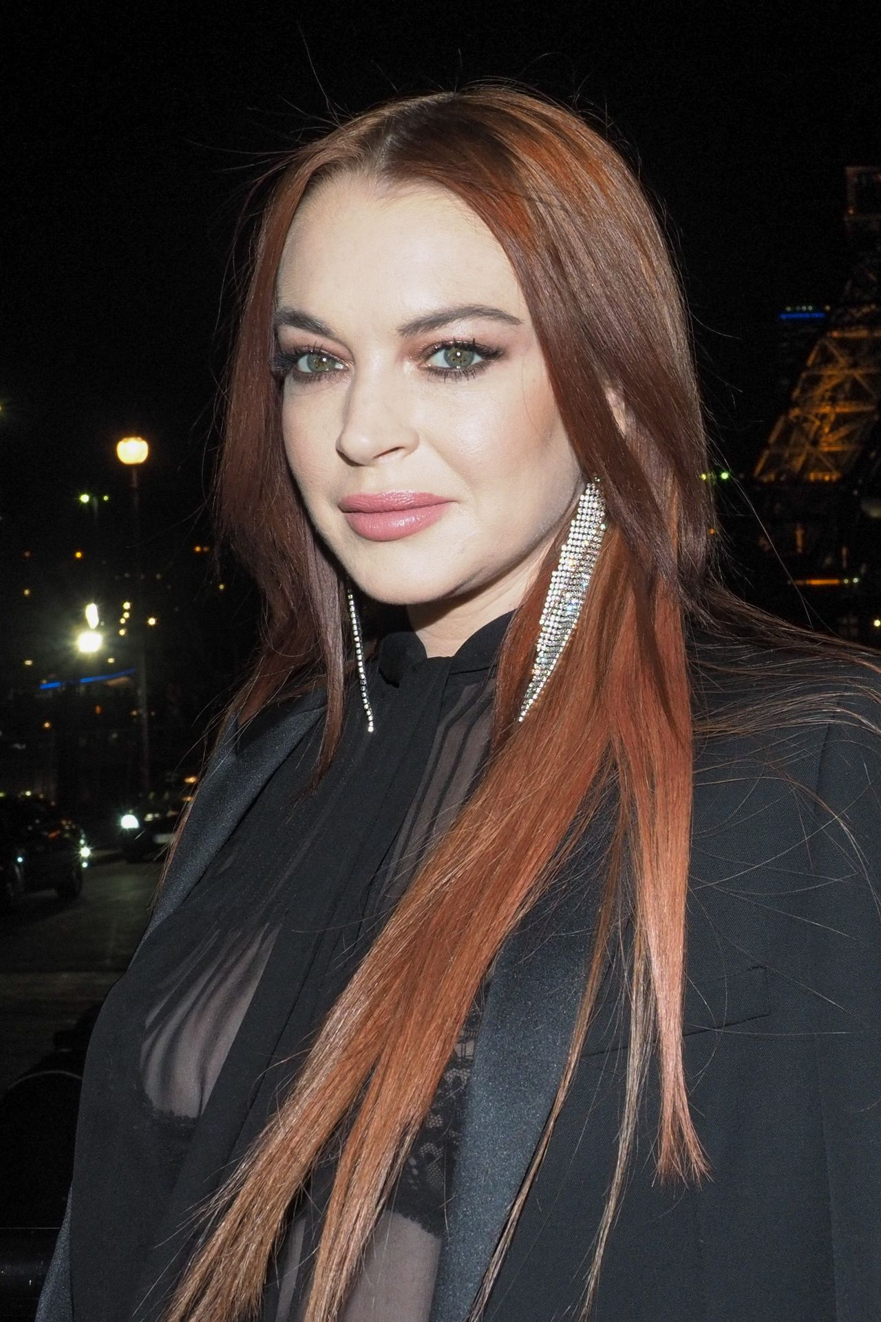 Lindsay Lohan Night Out Style - Paris 02/26/2019 Lindsay Lohan