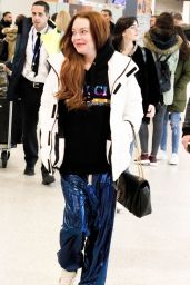 Lindsey Lohan - Airport in Athens, Greece 02/23/2019