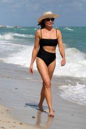 Luann de Lesseps in a Black Bikini 02/12/2019